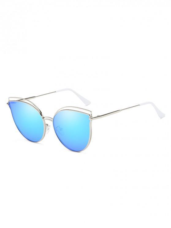 Catty Eye gafas de sol huecas polarizadas - Azul Cristal