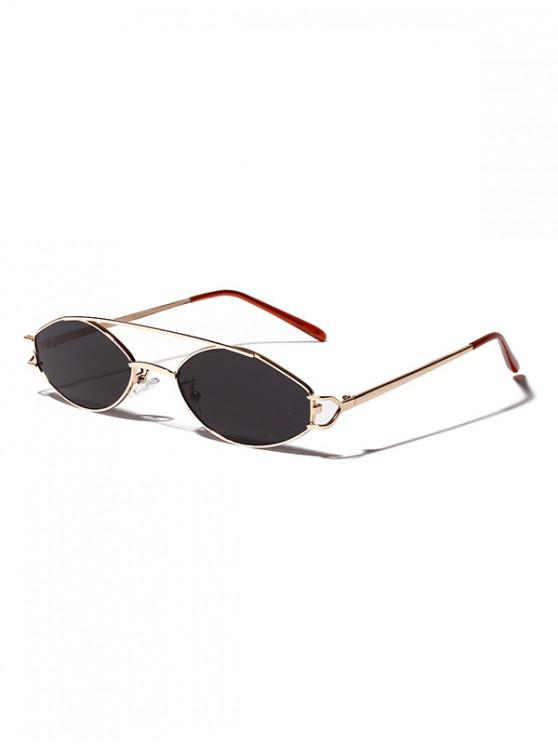Gafas de Sol Retro Barras Irregulares - Gris Ceniza
