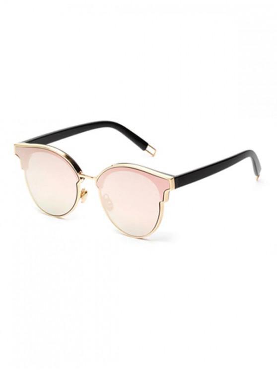 online Acrylic Round Stylish Frame Sunglasses - PINK