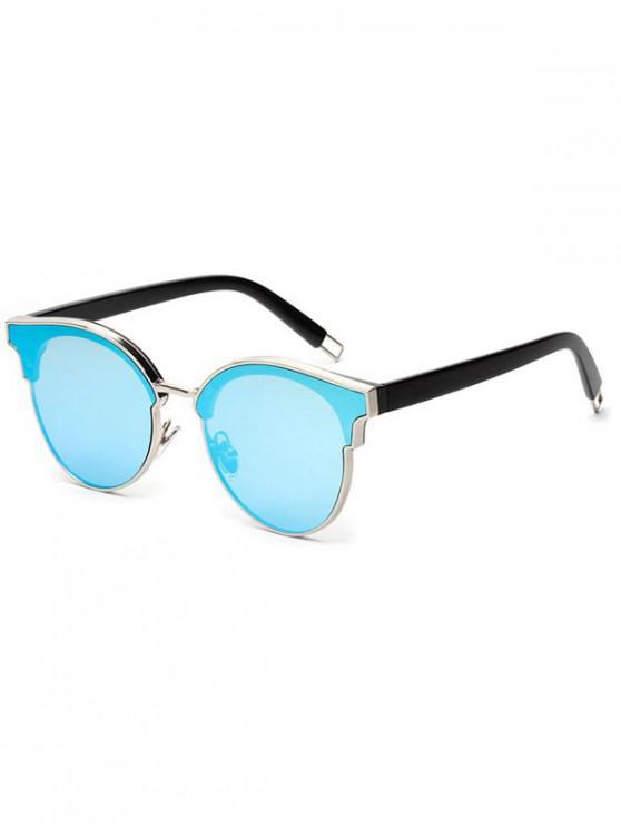fashion Acrylic Round Stylish Frame Sunglasses - BABY BLUE