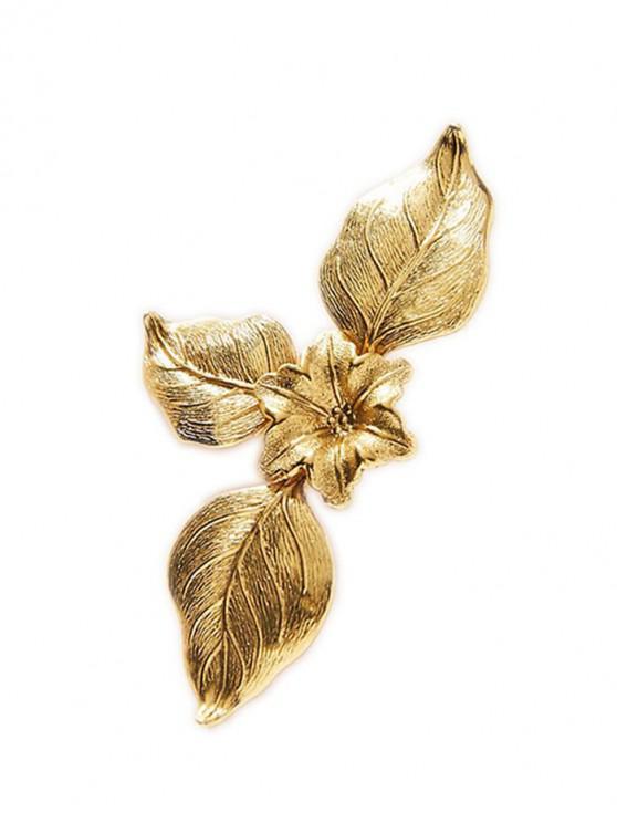 Pendientes de forma de flor plateada 18K - Oro