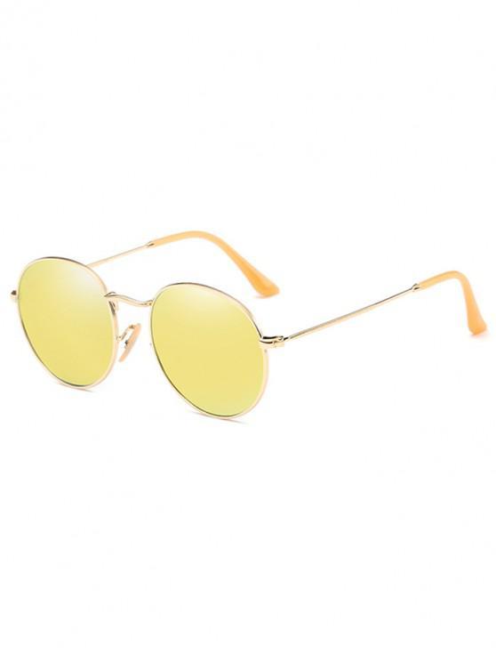 best Retro Metal Round Polarized Sunglasses - GOLD