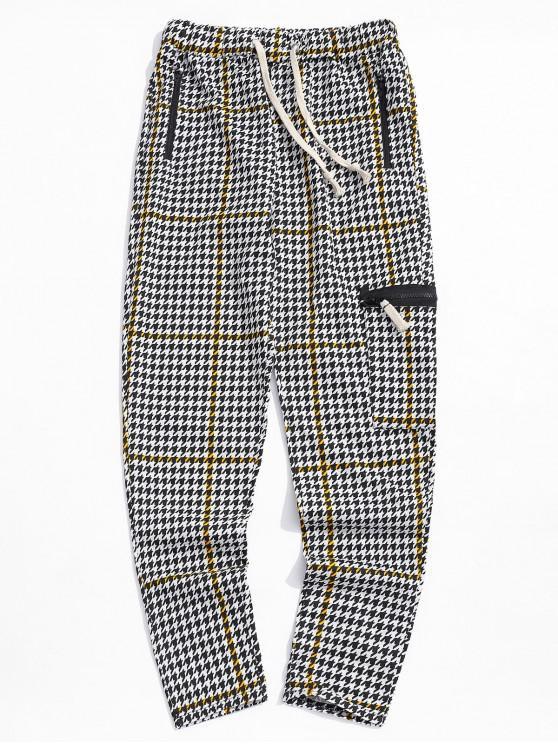 Pantalon de Survêtement de Sport Rayé Géométrique Imprimé - Verge d'Or 2XL