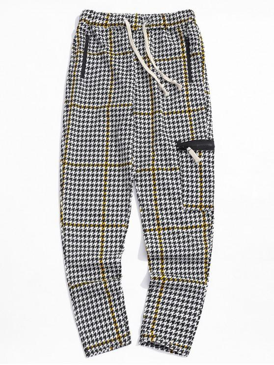 outfit Striped Geometric Print Sport Track Pants - GOLDENROD 3XL