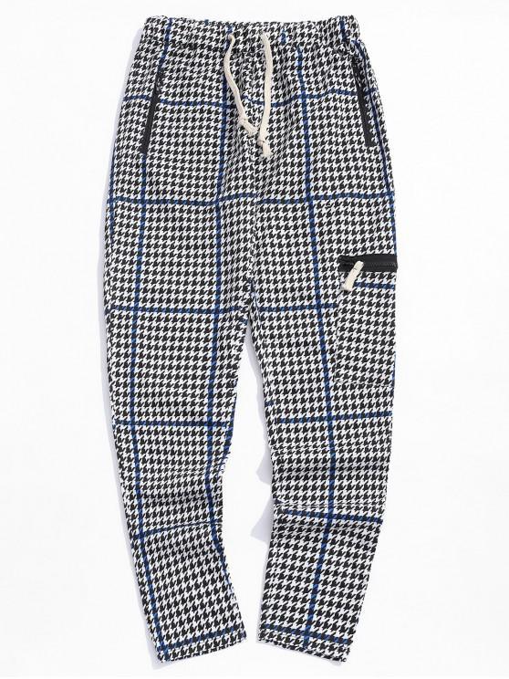 shops Striped Geometric Print Sport Track Pants - OCEAN BLUE XL