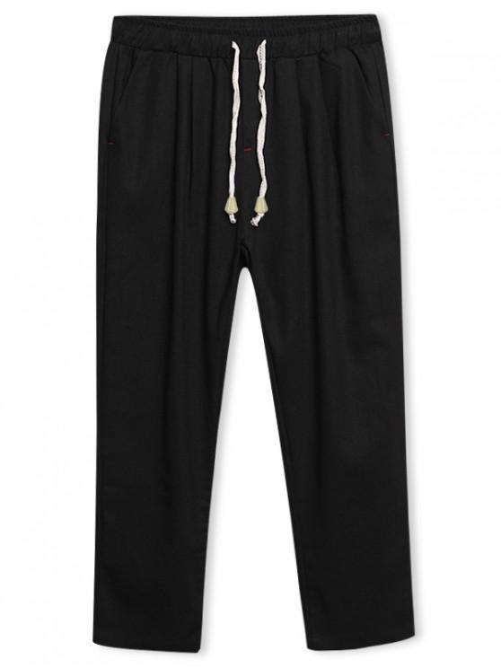 shops Solid Color Nine Minutes of Pants - BLACK L