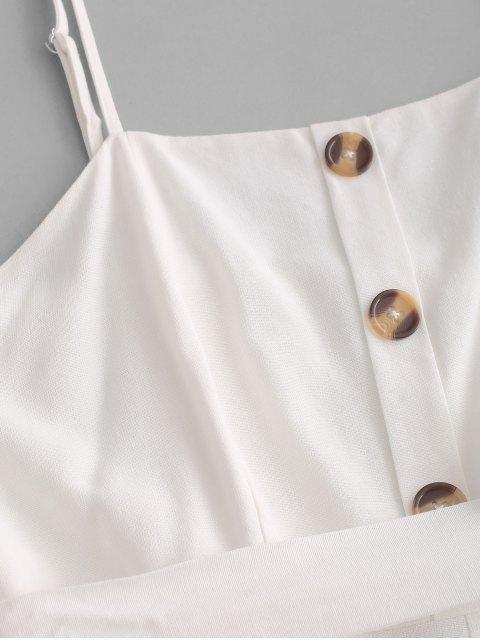 Pagliaccetto con Bottoni e Cintura di ZAFUL - Bianca XL Mobile