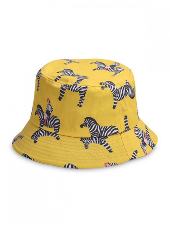 Unisex Animal Print Chic Bucket Hat - Amarillo