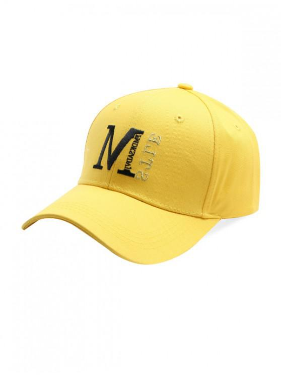 women's Simple Embroidery Letter Baseball Cap - YELLOW