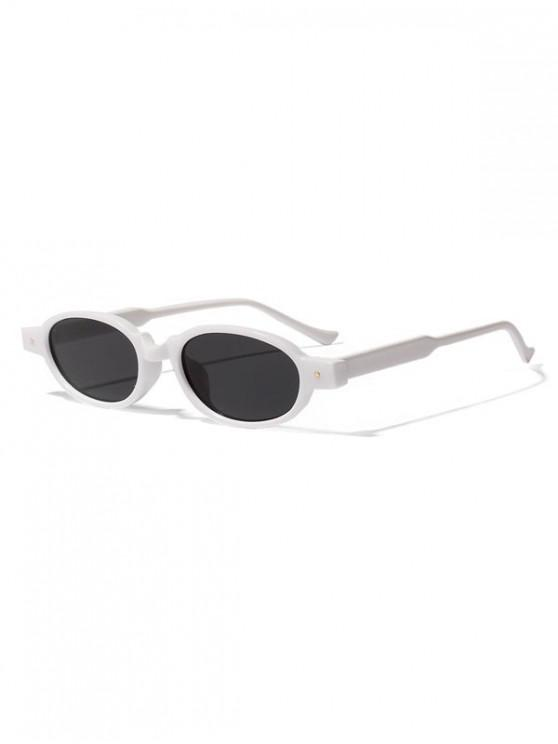 unique Oval Frame Rivet Design Sunglasses - SMOKEY GRAY