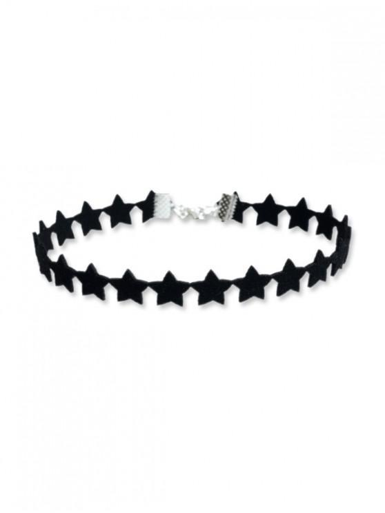 trendy Star Design Choker Necklace - BLACK