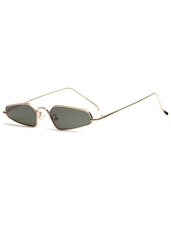 chic Unisex Irregular Shape Metal Frame Stylish Sunglasses - DARK GREEN