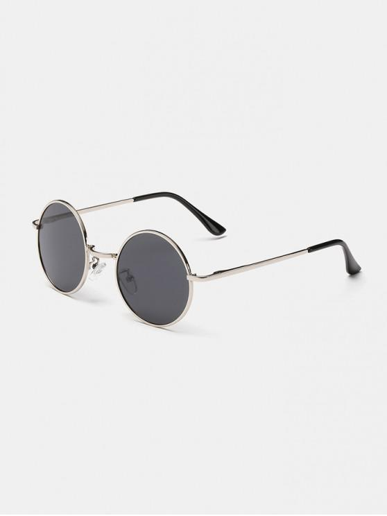 latest Polarized Round Metal Frame Sunglasses - GRAY