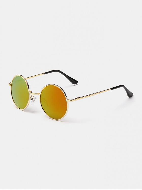 trendy Polarized Round Metal Frame Sunglasses - ORANGE