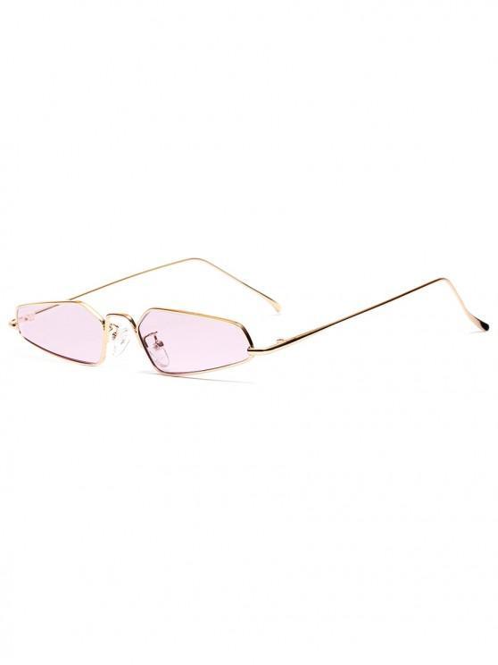 affordable Unisex Irregular Shape Metal Frame Stylish Sunglasses - VIOLA PURPLE
