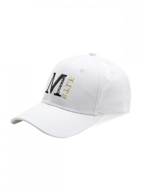 women's Simple Embroidery Letter Baseball Cap - WHITE