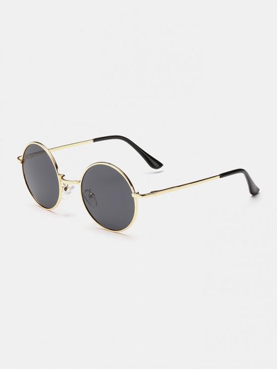 ladies Polarized Round Metal Frame Sunglasses - GOLD