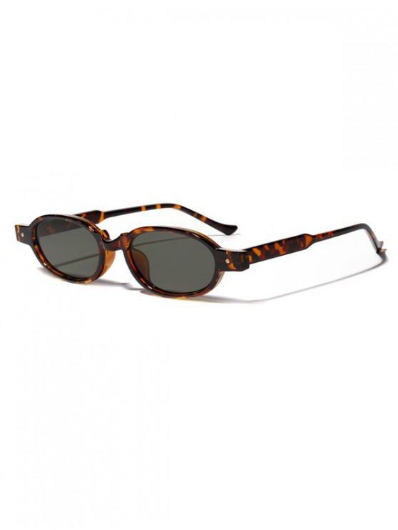 online Oval Frame Rivet Design Sunglasses - DARK GREEN