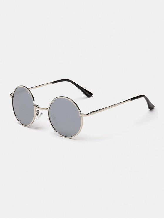 cb1599d90 15% OFF] [HOT] 2019 Polarized Round Metal Frame Sunglasses In SILVER ...