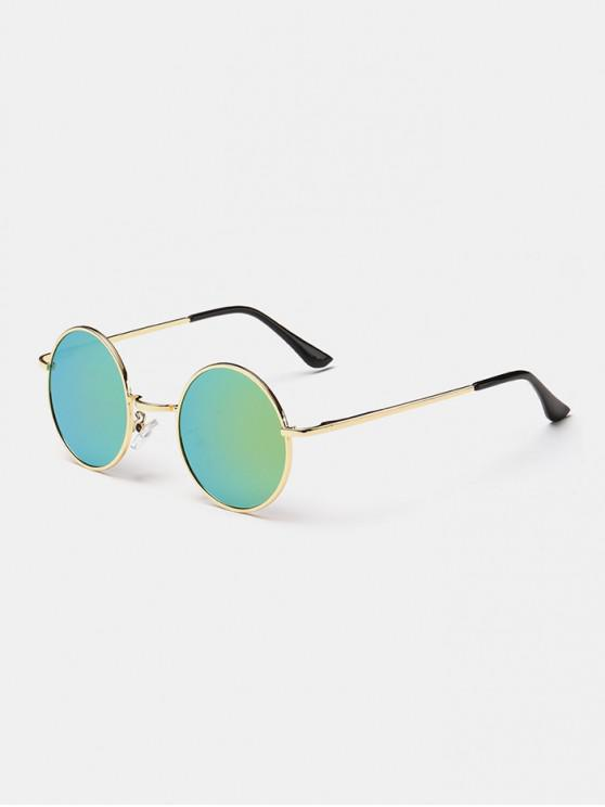 hot Polarized Round Metal Frame Sunglasses - AVOCADO GREEN