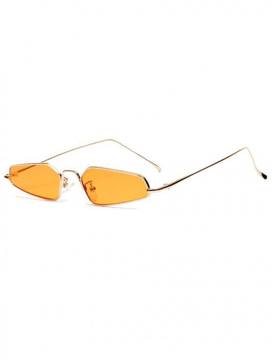 Gafas de sol con estilo de marco de metal de forma irregular unisex - Amarillo de Sol
