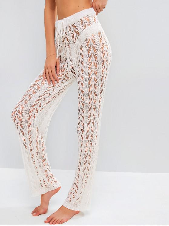 shop Crochet Beach Pants - WHITE M