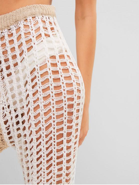 Crochet Pantalon CordonBlanc À Bicolore Au n8mN0Owv