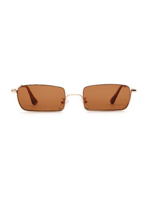 Occhiali da Sole con Montatura Rettangolare di Metallo - Marrone Chiaro  Mobile