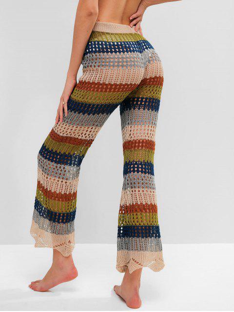 Брюки Вязание Со шнуровкой - Многоцветный-A S Mobile