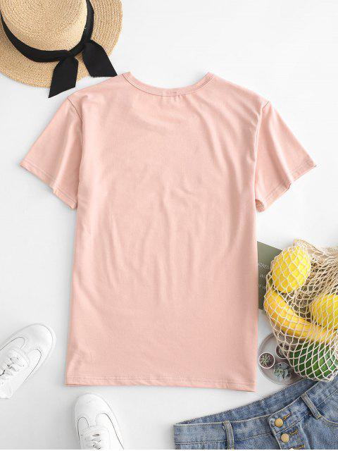 shops Hand Graphic Jersey Tee - ROSE XL Mobile