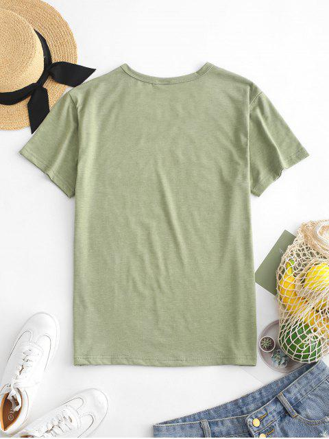 outfits Hand Graphic Jersey Tee - FERN GREEN S Mobile