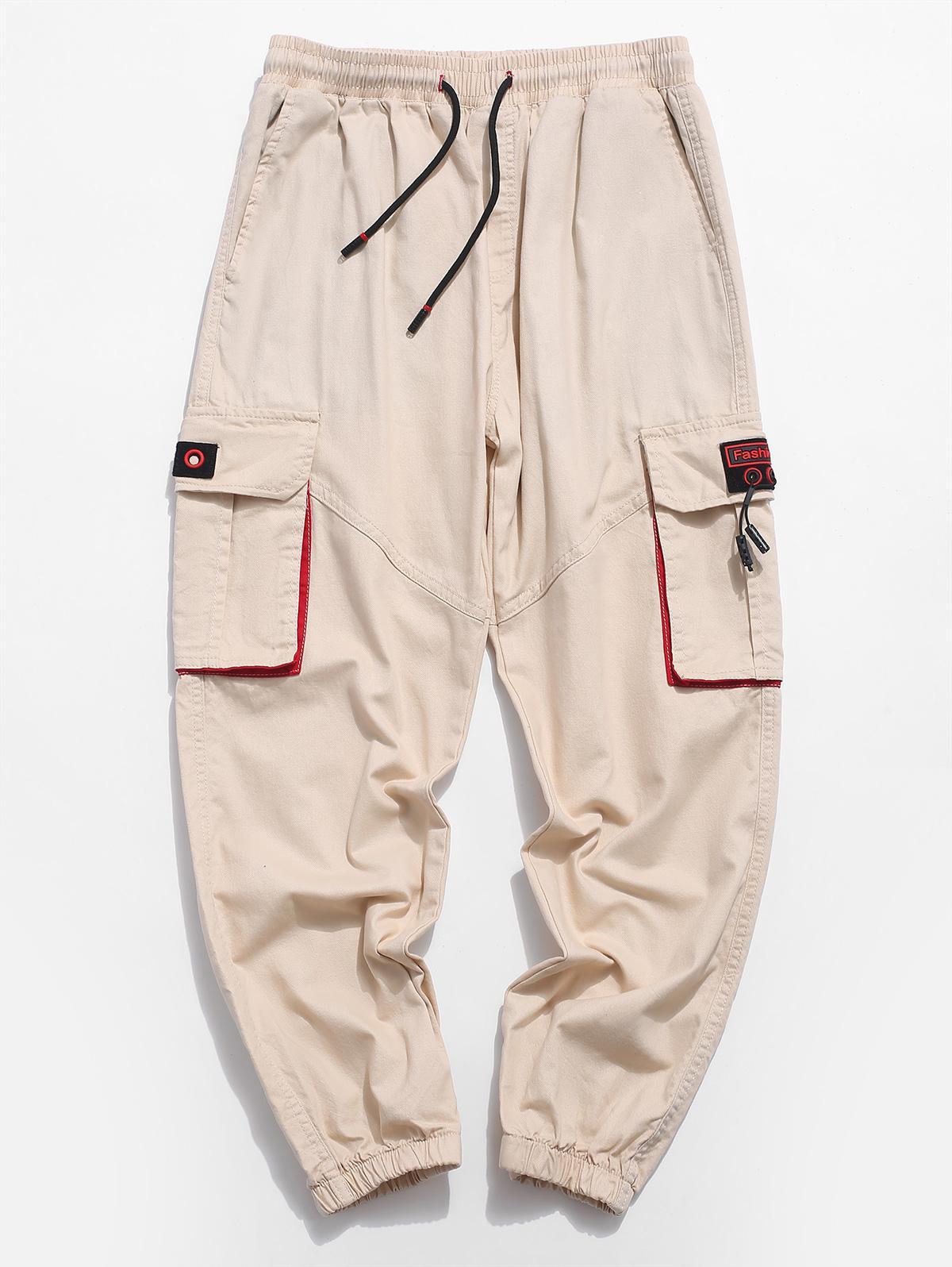 Multi-Pannello di tasca Coulisse Pantaloni Jogger