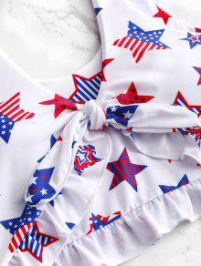 8a2f08b4774 52% OFF] [HOT] 2019 ZAFUL Patriotic American Flag Ruffle Tankini ...