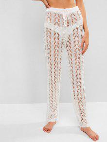 17 Off Popular 2019 Crochet Beach Pants In White Zaful