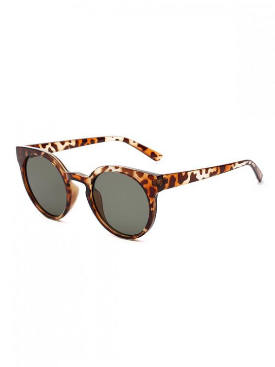 outfits Retro Round Chic Sunglasses - LEOPARD