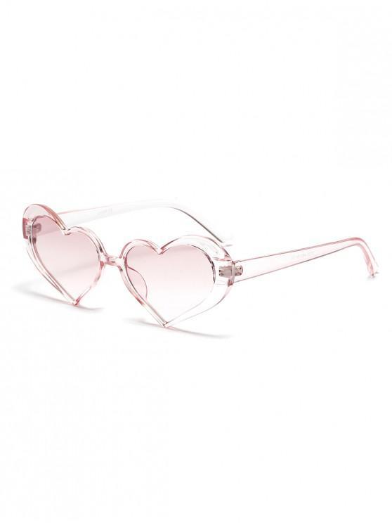 lady Stylish Heart Shape Frame Sunglasses - PINK