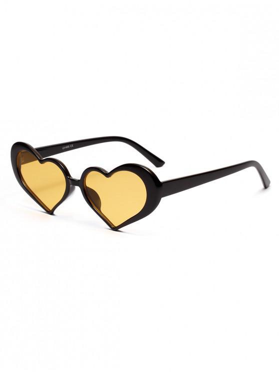 latest Stylish Heart Shape Frame Sunglasses - YELLOW