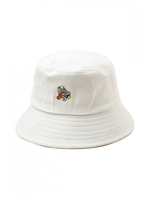 หมวกโรลเลอร์สเกตลายปัก Roller Skates - ขาว