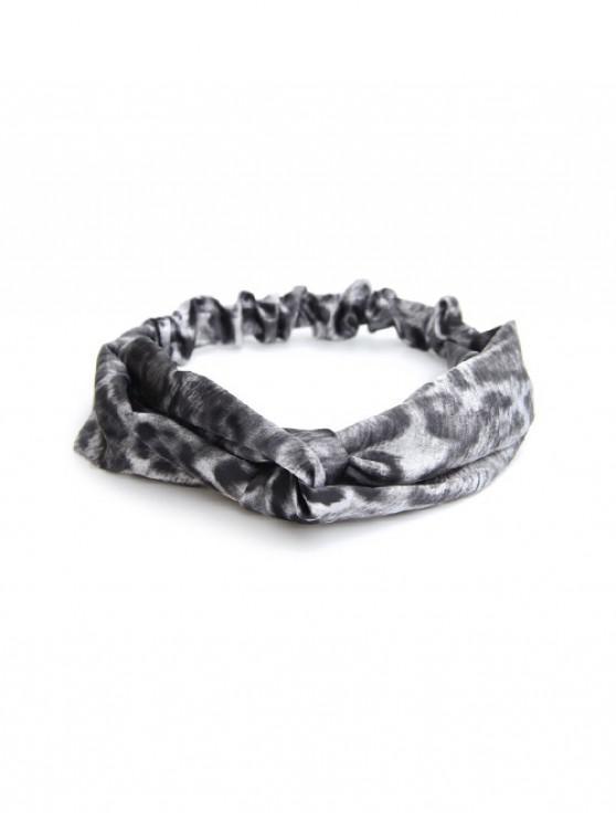 affordable Animal Print Elastic Sports Wash Face Headband - BATTLESHIP GRAY