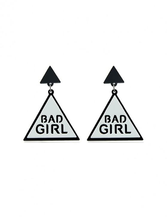 outfits Punk Triangle Letter Drop Earrings - WHITE