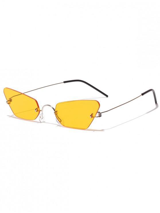 Elegantes formas de marco de metal de forma irregular elegantes gafas de sol - Vara de Oro