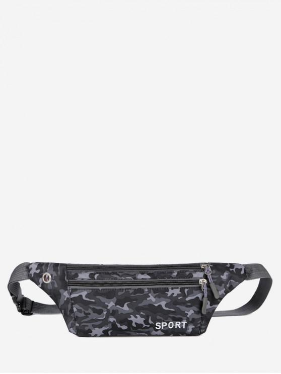 chic Camouflage Pattern Casual Crossbody Bag - BLACK