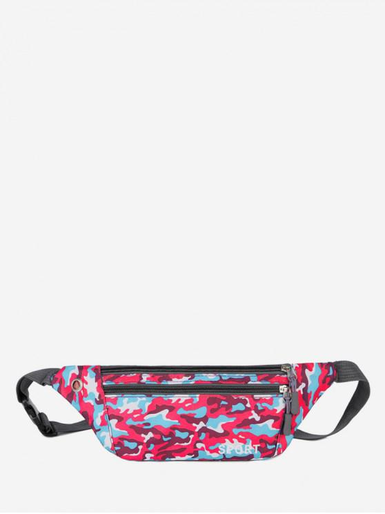 unique Camouflage Pattern Casual Crossbody Bag - ROSE RED