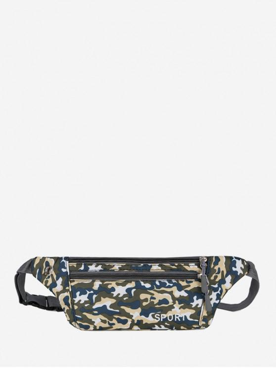 affordable Camouflage Pattern Casual Crossbody Bag - SILK BLUE