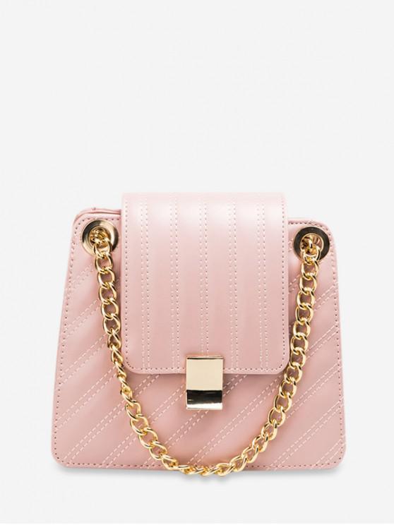 shops Leisure Solid Color Design Crossbody Bag - PINK