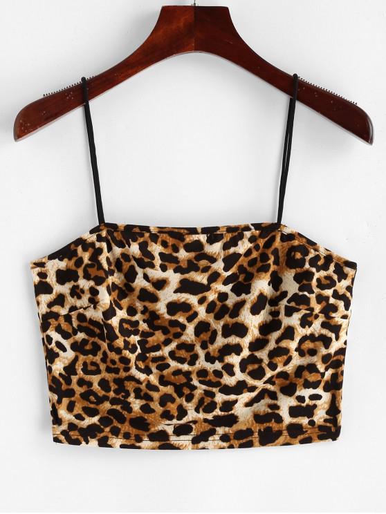 latest ZAFUL Leopard Print Crop Cami Top - LEOPARD M