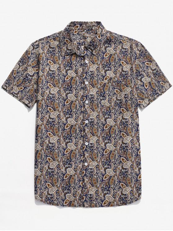 women Paisley Print Button Shirt - MULTI XL