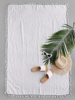 Semi-Schiere-Rechteck -Quaste- Sunbath- Strand- Throw -Abdeckung - Weiß