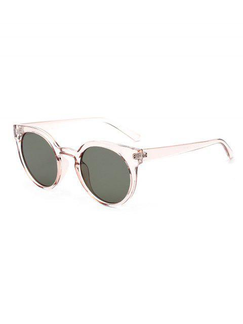 ladies Retro Round Chic Sunglasses - DARK GREEN  Mobile