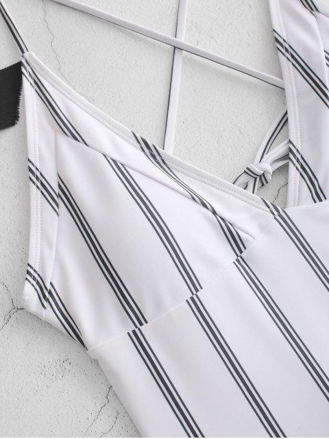 ZAFUL Traje de baño a rayas con cruzado de Criss - Multicolor-A S Mobile